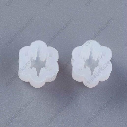1 pár Hópehely alakú fülbevaló szilikon öntőforma