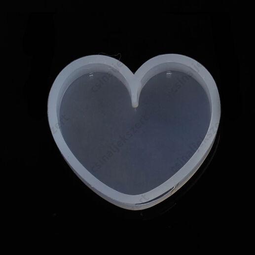 35 mm Szív alakú medál szilikon öntőforma