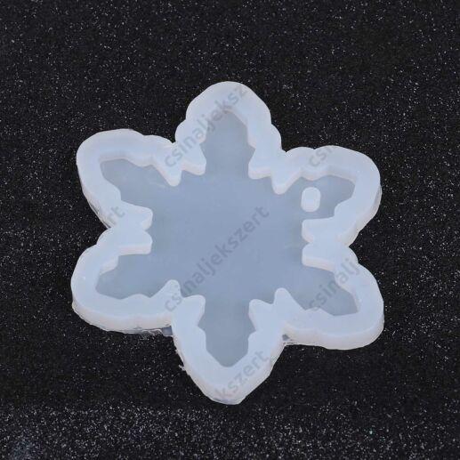 39 mm Hópehely alakú szilikon medál öntőforma