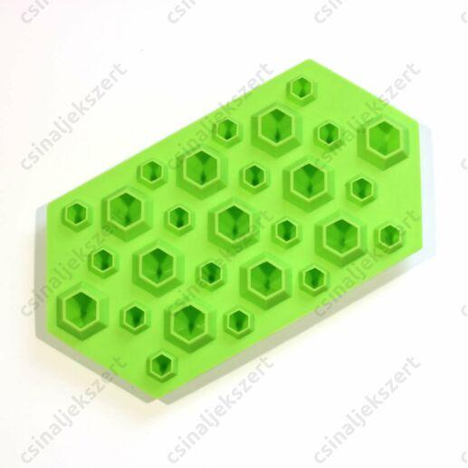 3D Gyémánt alakú szilikon öntőforma 20-25 mm