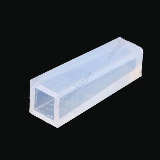 49x15 mm hosszú négyzetes keskenyedő téglatest medál szilikon öntőforma