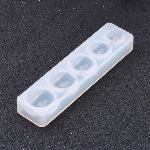 5 darabos 10-16 mm félgömb szilikon öntőforma
