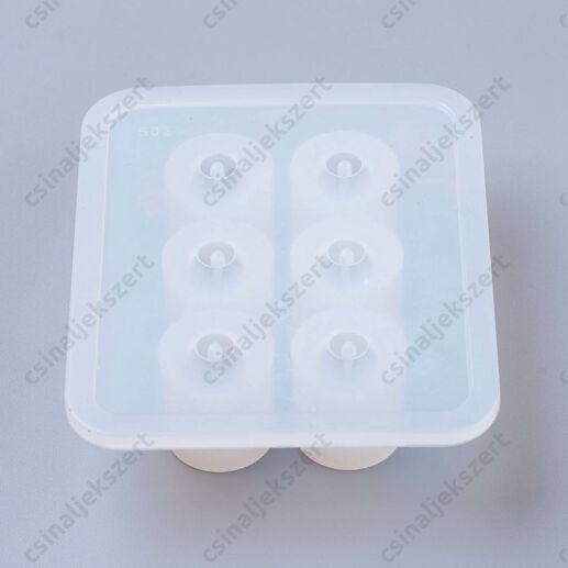 6 darabos Kerek 10 mm gyöngy szilikon öntőforma