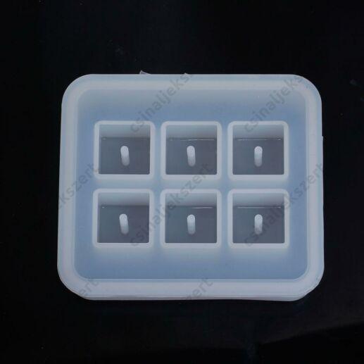 6 darabos négyzet gyöngy 16x16 mm szilikon öntőforma
