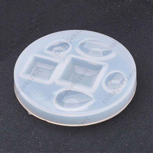 6 darabos vegyes lencse szilikon öntőforma