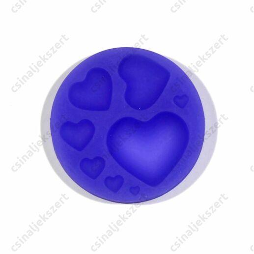 8 részes szívek szilikon öntőforma