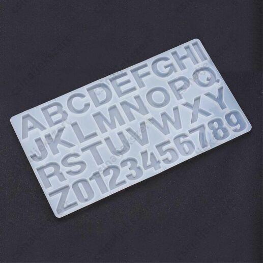 ABC és számok szilikon medál öntőforma