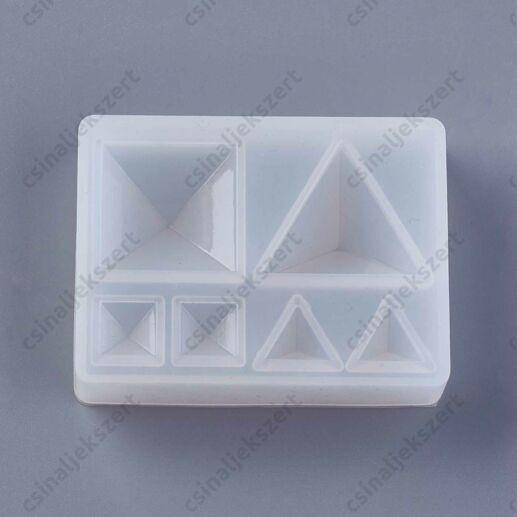 Négyzet és háromszög szett szilikon öntőforma