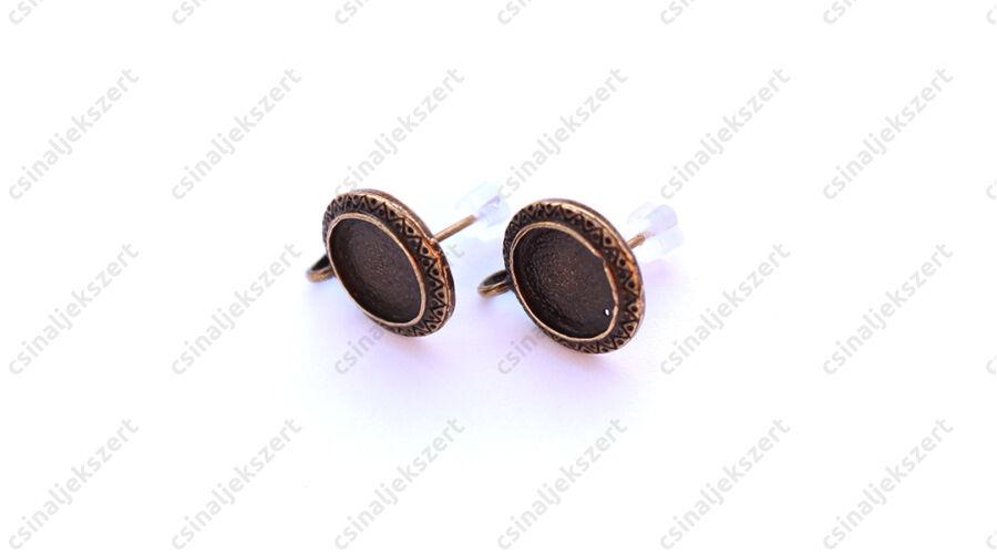 f70643fc7 Antikolt bronz színű bedugós tányéros fülbevaló alap hurokkal NIKKELMENTES